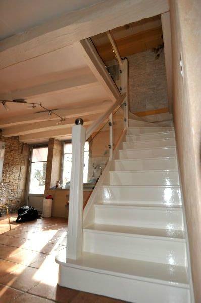 escalier bois verre. Black Bedroom Furniture Sets. Home Design Ideas