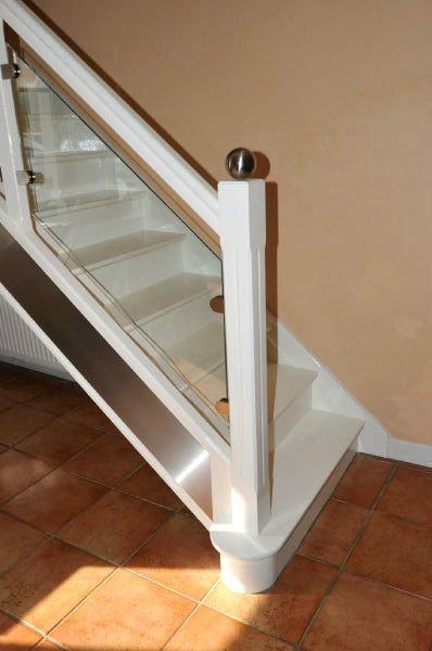 Escalier bois verre for Peinture sur escalier