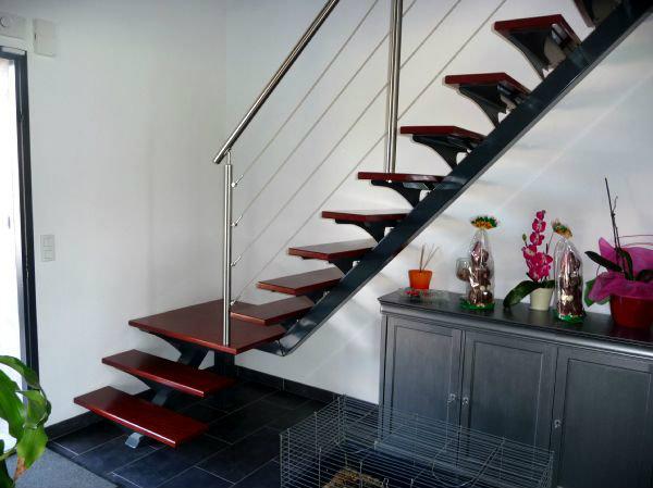 escalier bois m tal menuiserie mougin. Black Bedroom Furniture Sets. Home Design Ideas